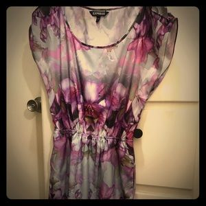 Express Pink and Purple Floral Dress